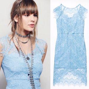 Free People NWOT Lace Slip Dress
